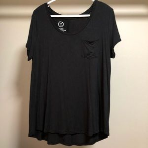Maurices pocket tee with twist sleeves
